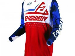 Maillot cross Answer Elite Discord rouge / blanc