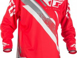 Maillot cross Fly Racing Evo 2.0 rouge / blanc