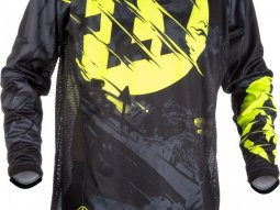 Maillot cross Fly Racing Kinetic Outlaw noir / jaune fluo