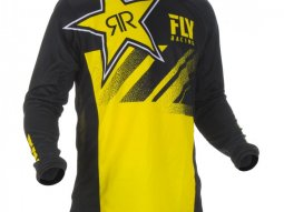 Maillot cross Fly Racing Kinetic Rockstar jaune / noir