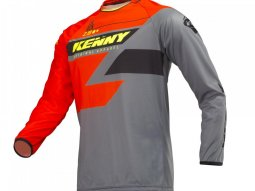 Maillot cross Kenny Track orange / gris / jaune fluo