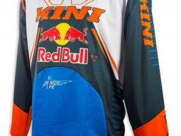 Maillot cross Kini Red Bull Competition bleu marine / orange