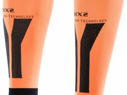 Manchons de compression mollets Sixs orange et noir
