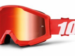 Masque cross 100% Strata Furnace Mirror red lens