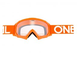 Masque cross enfant O'Neal B-10 Solid orange / blanc