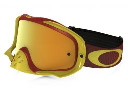 Masque cross Oakley Crowbar Shockwave jaune / rouge écran 24K iridium