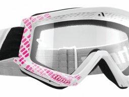 Masque cross Thor Combat Cap rose / blanc