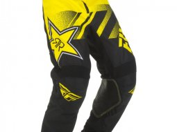 Pantalon cross enfant Fly Racing Kinetic Rockstar jaune / noir