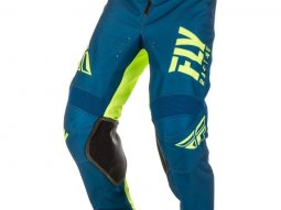 Pantalon cross enfant Fly Racing Kinetic Shield bleu / jaune