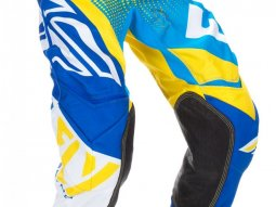 Pantalon cross Fly Racing Evo 2.0 bleu / jaune / blanc