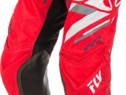 Pantalon cross Fly Racing Evo 2.0 rouge / blanc