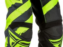 Pantalon cross Fly Racing F-16 noir / jaune fluo
