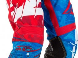 Pantalon cross Fly Racing Kinetic Outlaw rouge / blanc / bleu