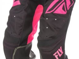 Pantalon cross Fly Racing Lite Hydrogen rose / noir
