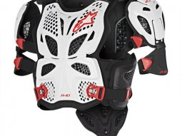 Pare-pierre Alpinestars A-10 blanc / noir / rouge (protection...