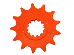 Pignon 12 dents pas 420 Minarelli AM6 orange