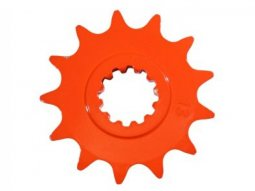 Pignon 15 dents pas 420 Minarelli AM6 orange
