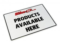 Plaque de parking PRODUCTS AVAILABLE HERE