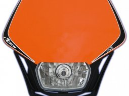 Plaque phare Racetech V-Face orange et noire
