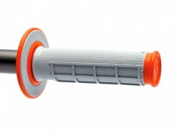 Revêtements MX Renthal Dual Grip gris / orange