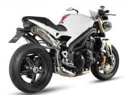 Silencieux double MIVV Ghibli inox Triumph Speed Triple 07-10