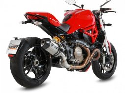 Silencieux MIVV Speed Edge inox / casquette carbone Ducati Monster 120
