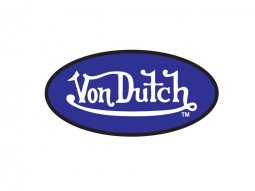 Sticker 8cm Von Dutch bleu