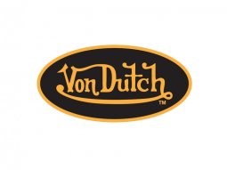 Sticker 8cm Von Dutch noir / jaune