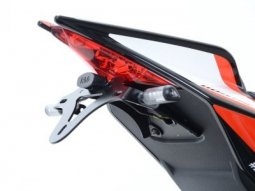 Support de plaque dimmatriculation R&G Racing noir Aprilia Tuono V4 1