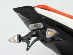 Support de plaque dimmatriculation R&G Racing noir Derbi GPR 125 09-1