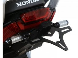 Support de plaque dimmatriculation R&G Racing noir Honda X-ADV 750 17