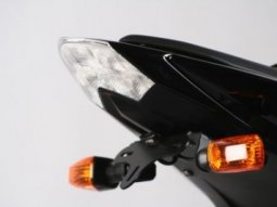 Support de plaque dimmatriculation R&G Racing noir Kawasaki Z 750 07-