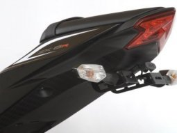 Support de plaque dimmatriculation R&G Racing noir Kawasaki ZX-10R 08