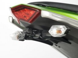Support de plaque dimmatriculation R&G Racing noir Kawsasaki Z 1000 1