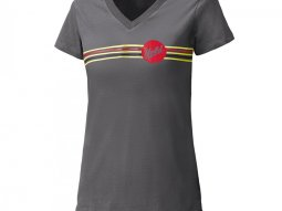 T-Shirt femme Held Be Heroic gris / rouge