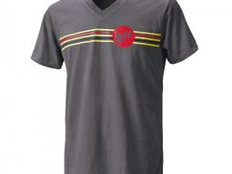 T-Shirt Held Be Heroic gris / rouge