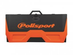 Tapis récupérateur pliable Polisport Bike Mat bicolore orange...