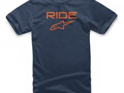 Tee-shirt Alpinestars Ride 2.0 navy / orange
