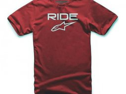 Tee-shirt Alpinestars Ride 2.0 rouge / blanc