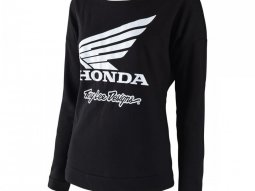 Tee-Shirt femme manches longuesTroy Lee Designs Honda Wing Crew noir -