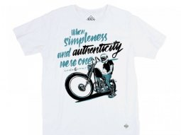 Tee shirt Ride And Sons AUTHENTICITY Brusco Artworks blanc
