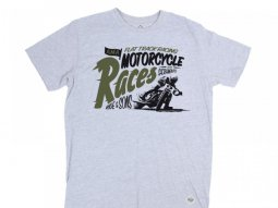 Tee shirt Ride And Sons MOTORCYCLES RACES Heather gris
