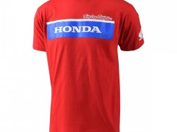 Tee-shirt Troy Lee Designs Honda Wing Block rouge