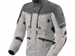 Veste textile Rev'it Poseidon 2 Gore-Tex argent / anthracite