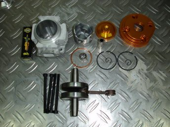 Kit big bore 53cc 4 transferts pour pocket bike